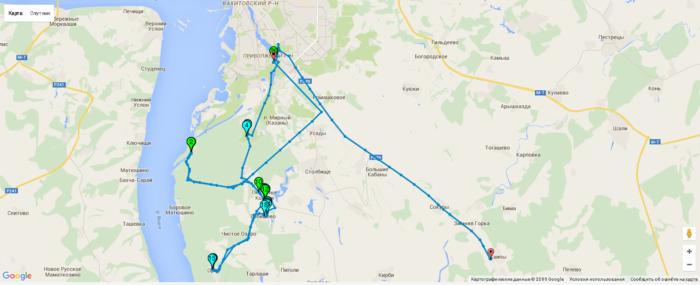 GPS трек